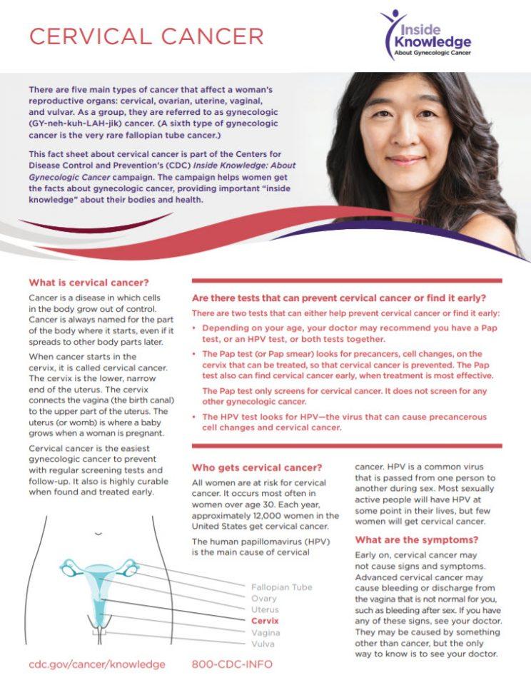 Factsheet CDC Cervical Cancer