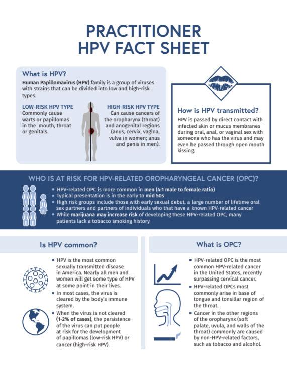 Factsheet HPV Practitioner HPV Fact Sheet