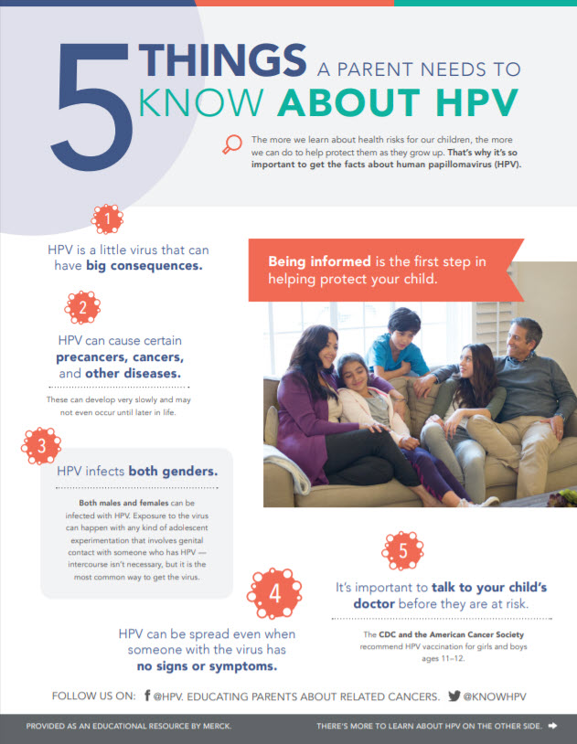 Five Things A Parent Needs to Know About HPV