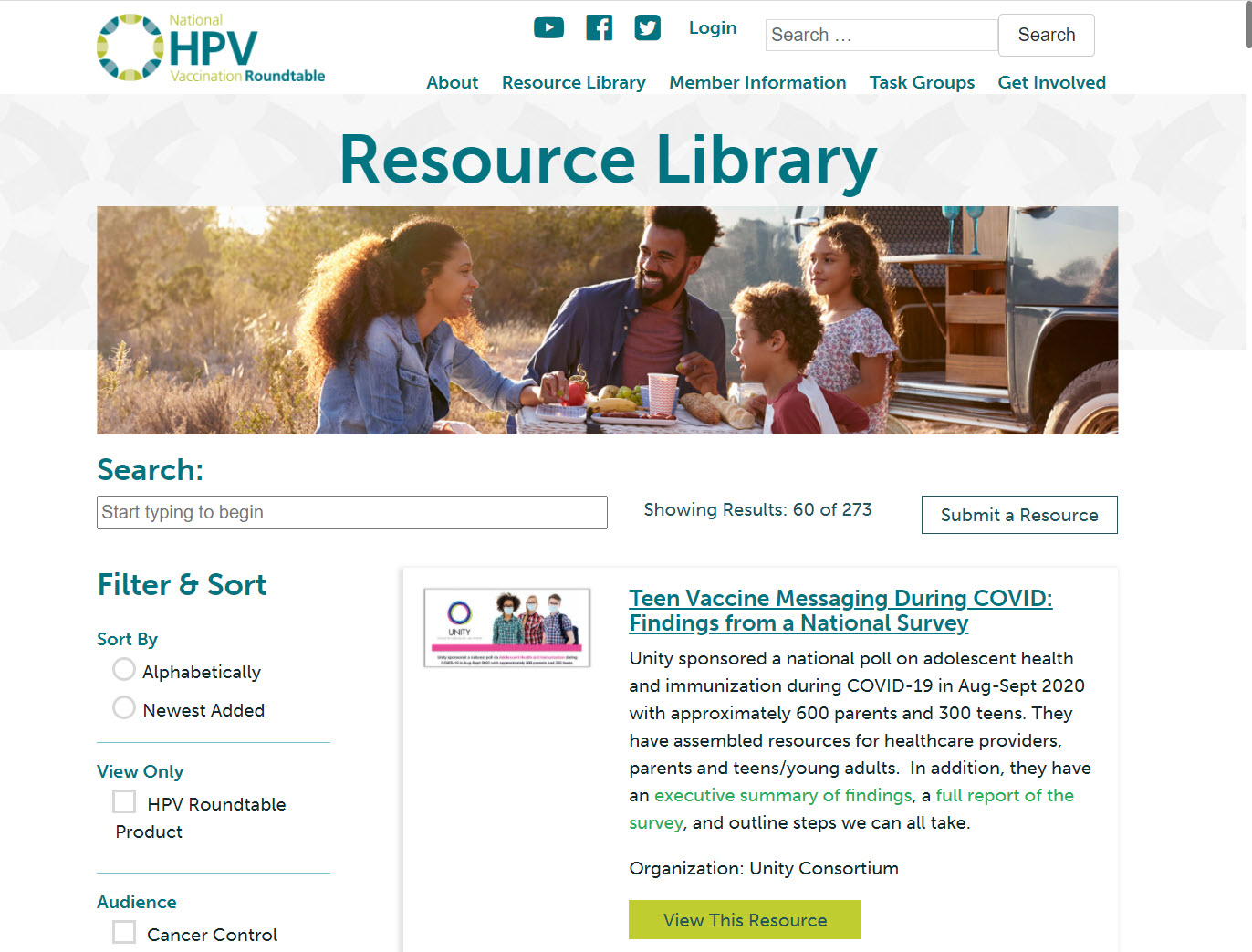 HPV Roundtable Resource Library