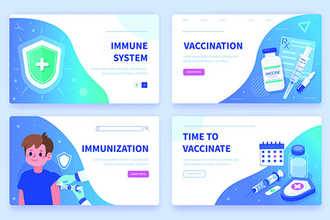 Infographic of Immunization Vaccination Themes